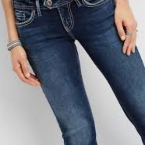 Silver Tuesday flap low rise jeans size 27/33